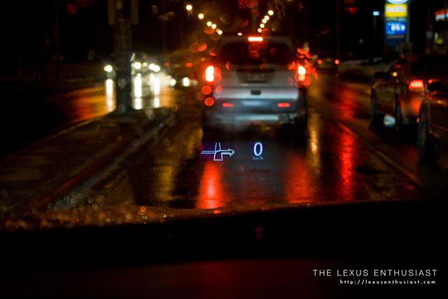 Lexus RX450h Heads Up Display