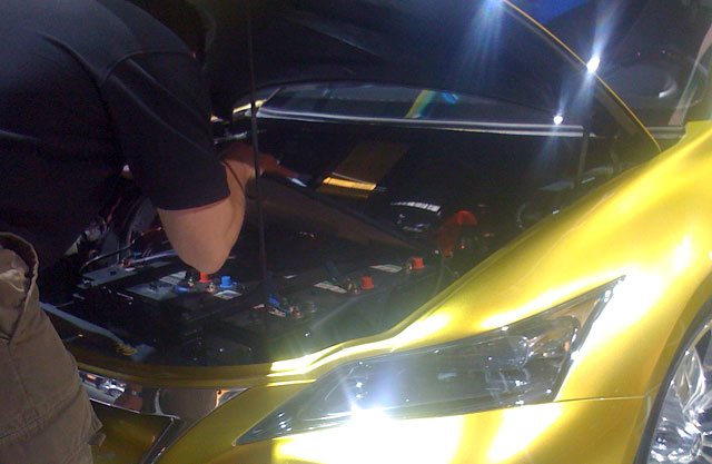 Under the Lexus LF-Ch Hood