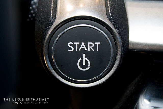 Lexus LF-Ch Start Button