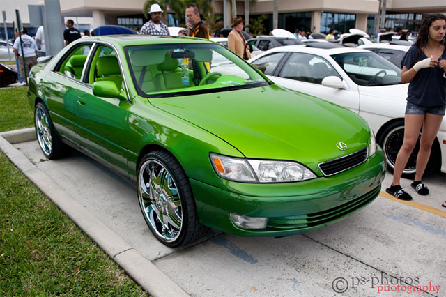 Lime Green Lexus ES 300