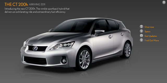 Lexus CT 200h in Silver