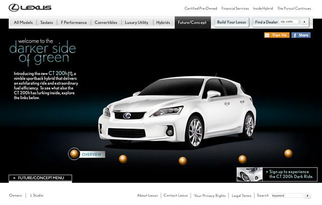 Lexus CTh on Lexus.com