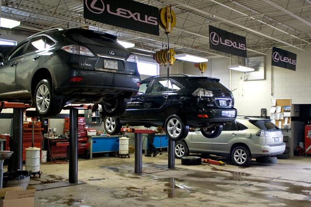 Three Lexus RXs in a row