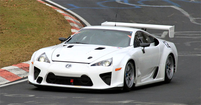 Lexus LFA on Nürburgring Practise Run