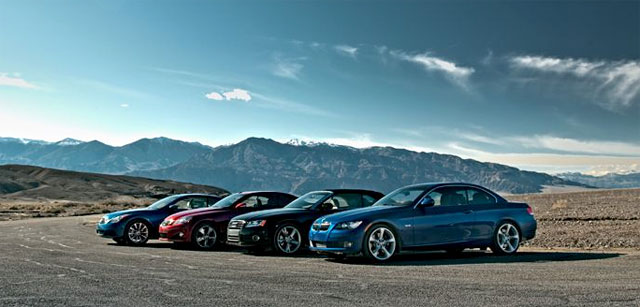 Motor Trend Comparison: Lexus IS 350C vs. BMW 335i vs. Audi A5 vs. Infiniti G37