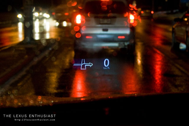 Lexus RX 450h Heads Up Display