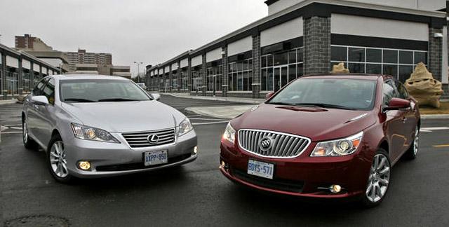 AutoGuide Lexus ES 350 vs. Buick LaCrosse Test