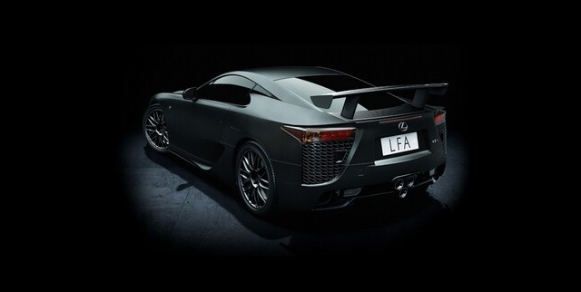 Lexus LFA Nürburgring Edition Black Rear
