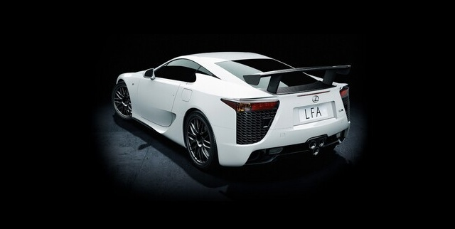 Lexus LFA Nürburgring Edition White Rear