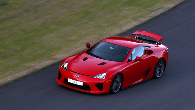 Red Lexus LFA
