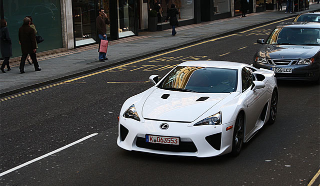 James Martin driving the Lexus LFA