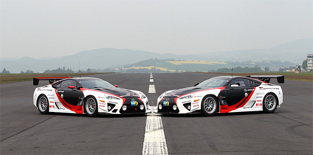 Two Lexus LFAs ready for Nürburgring