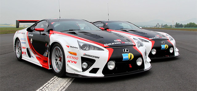 Two Lexus LFAs in 24h Nürburgring race