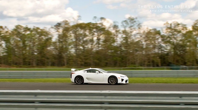 Kevin Watts driving the Lexus LFA