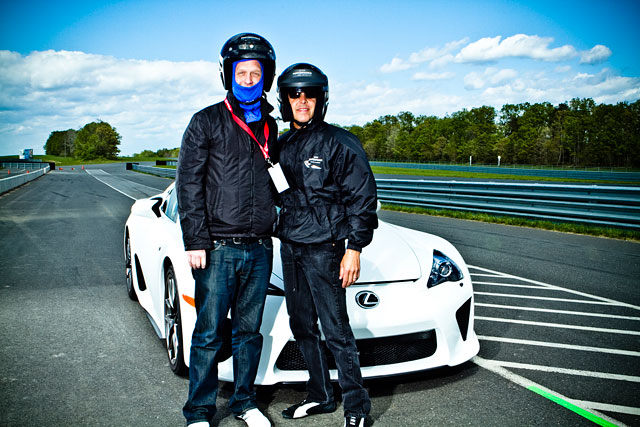 Lexus LFA with me & Scott Pruett