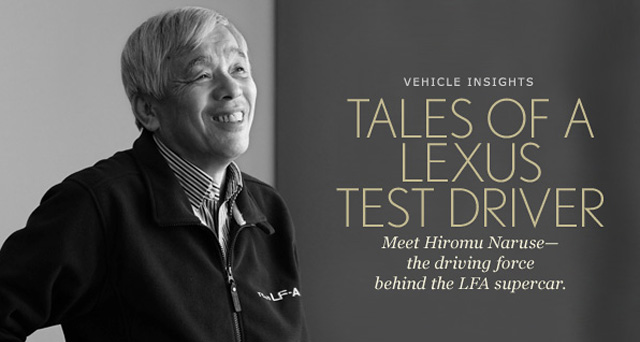 Hiromu Naruse, chief test driver for Lexus