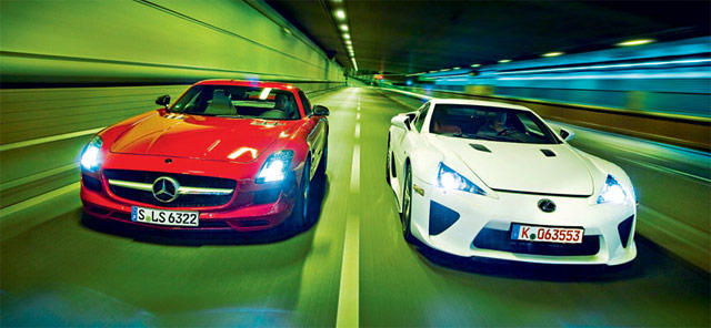 Lexus LFA vs. Mercedes SLS