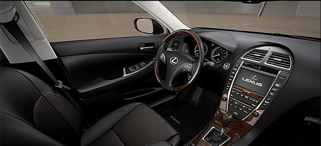 Lexus ES 350 Official Black with Saddle Tan Interior Photo