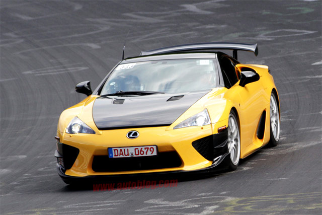 Yellow Lexus LFA Nürburgring Version Front