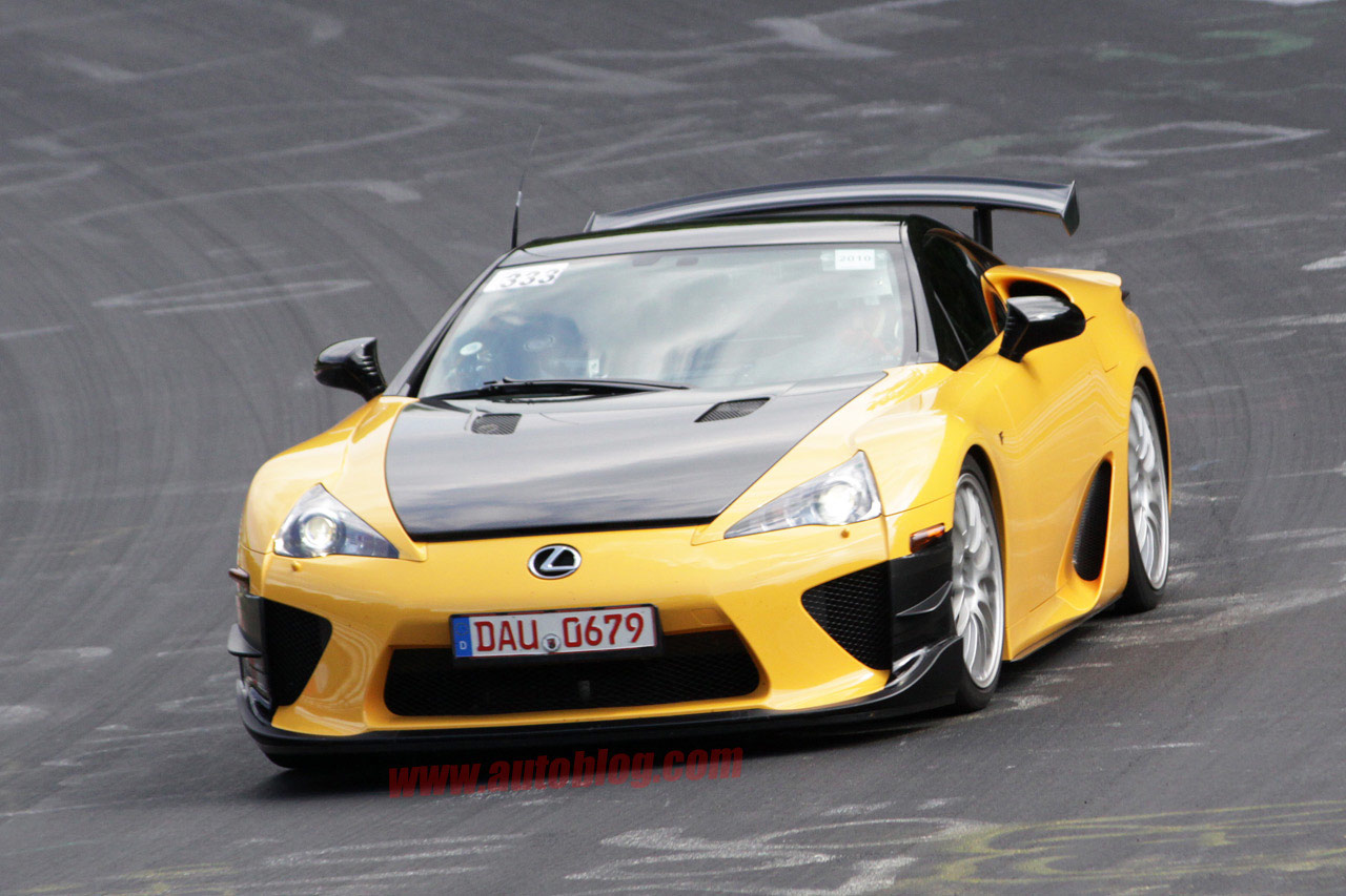 Amazing Yellow Lexus LFA Nürburgring Version Front