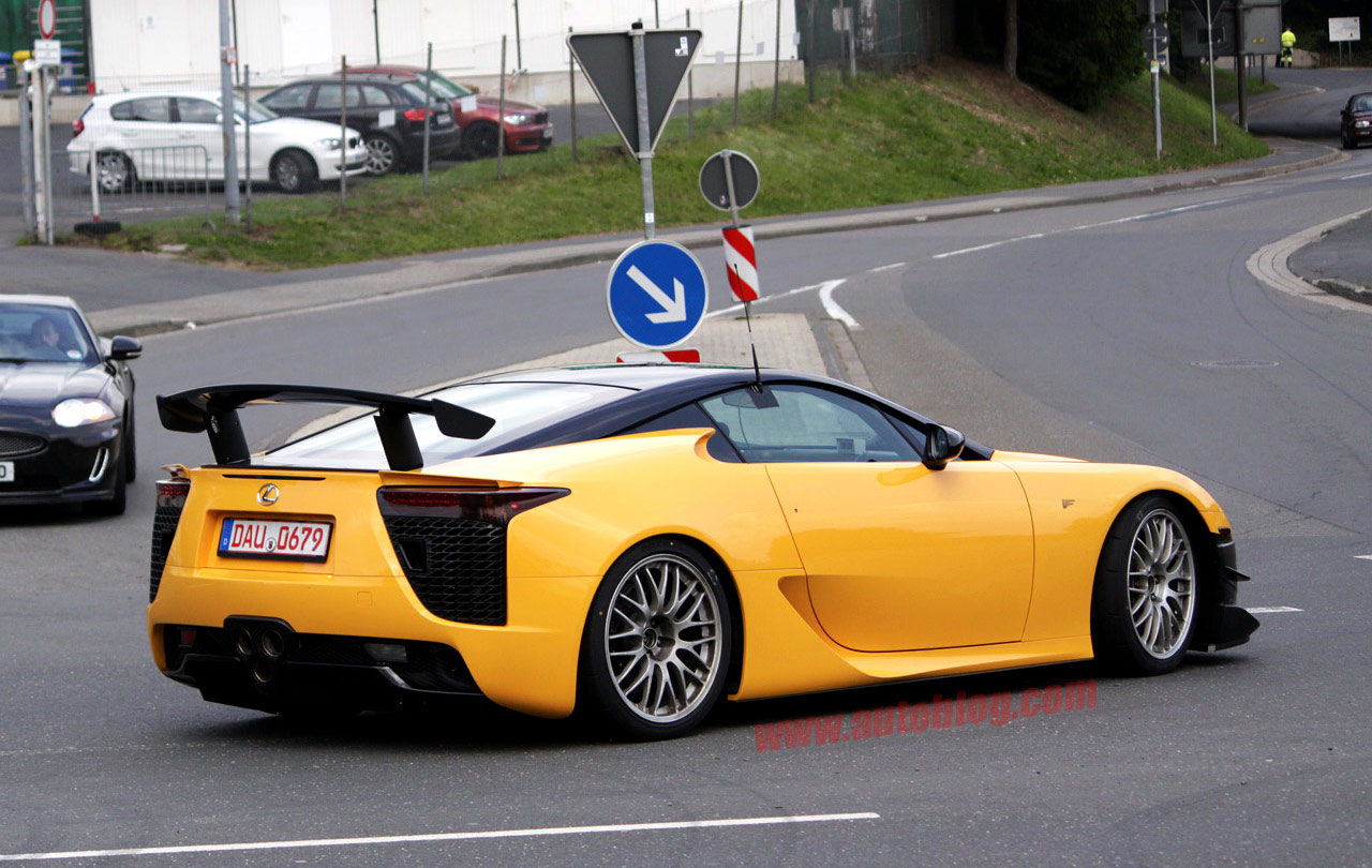 Yellow Lexus LFA Nürburgring Version Rear