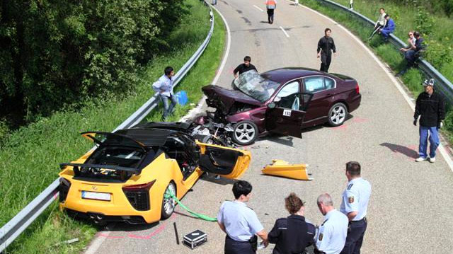 Lexus LFA Nürburgring Car Crash