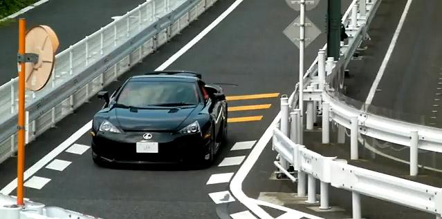 Black Lexus LFA Front