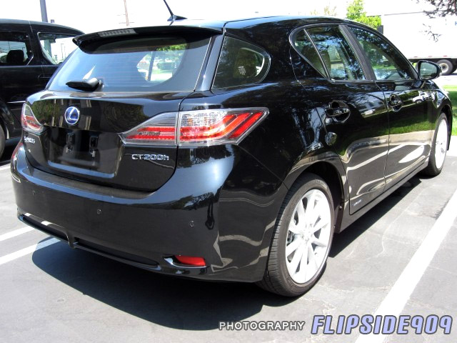 Black Lexus CT 200h Rear