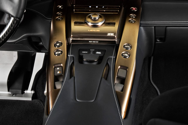 Lexus LFA Bronze Center Console