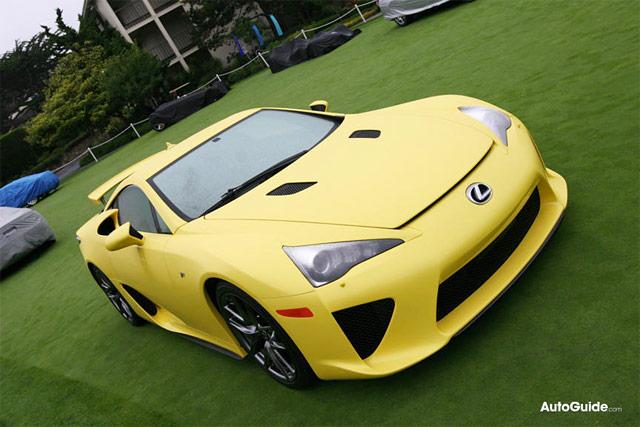 Yellow Lexus LFA Front