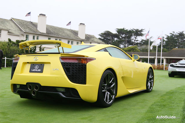 Yellow Lexus LFA Rear
