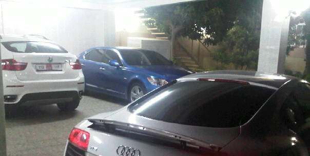 Blue Lexus LS 460