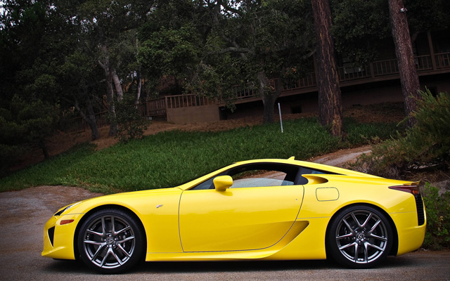Yellow Lexus LFA Parked