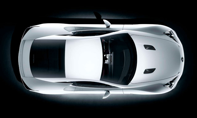 Lexus LFA Bird's Eye View
