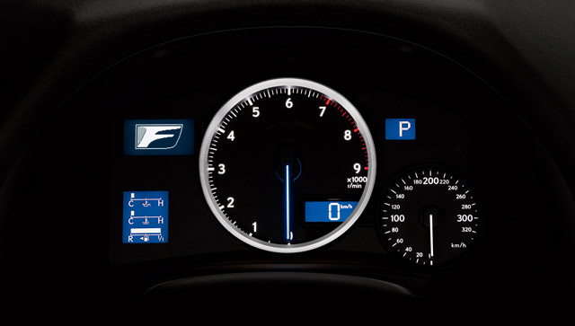 2011 Lexus IS F Instrument Panel