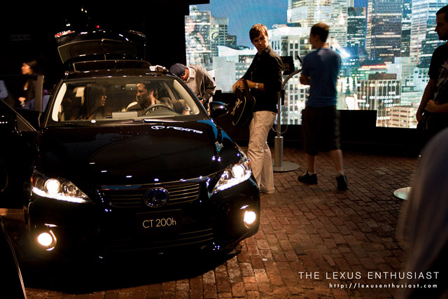 Black Lexus CT 200h at Night