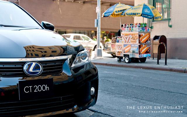 Black Lexus CT 200h in New York City