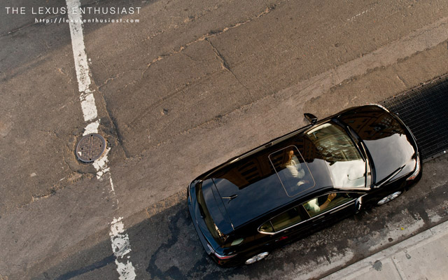 Black Lexus CT 200h from Above