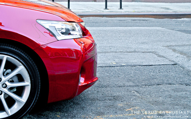 lexus CT 200h Red in NYC