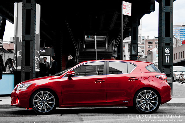 Lexus CT 200h with IS F Wheels