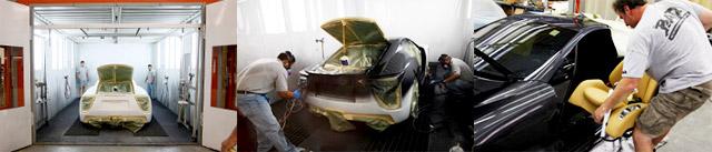 Pearl Grey Lexus LFA Paint Process