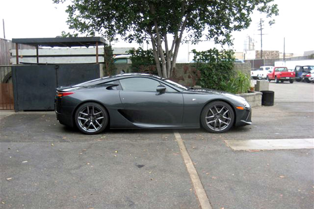 Pearl Grey Lexus LFA Side Profile