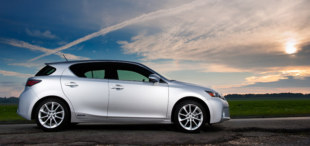 Lexus CT 200h in the Sun