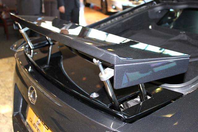 Pearl Grey Lexus LFA Rear Spoiler