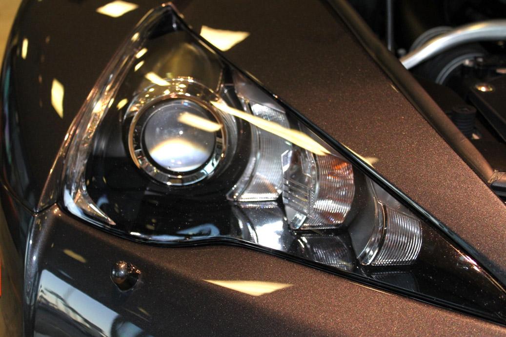 Pearl Grey Lexus LFA Front Headlight