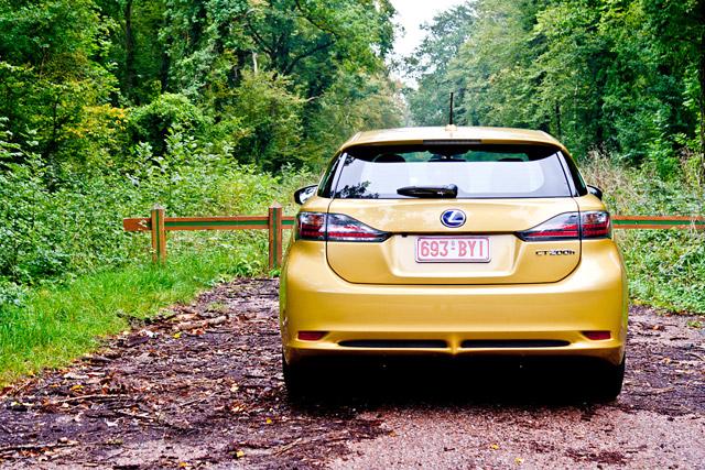 Lexus CT 200h in Daybreak Yellow Rear