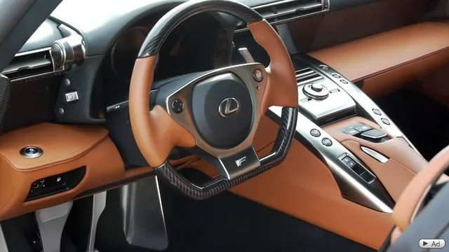 Camel Yellow Lexus LFA Interior Steering Wheel