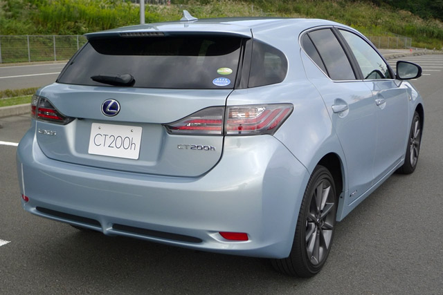 Blue Lexus CT 200h F-Sport Rear