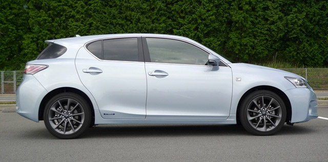 Blue Lexus CT 200h F-Sport Side Profile