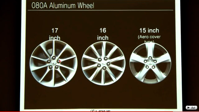 Lexus CT 200h Japanese Wheel Options